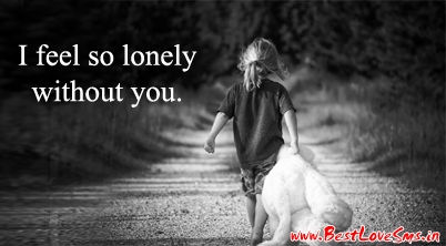 Sad Love Sms with Alone Girl Pic