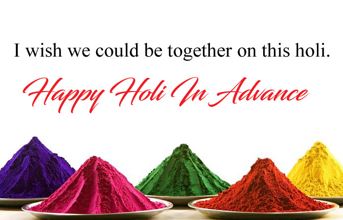 Happy Holi in Advance