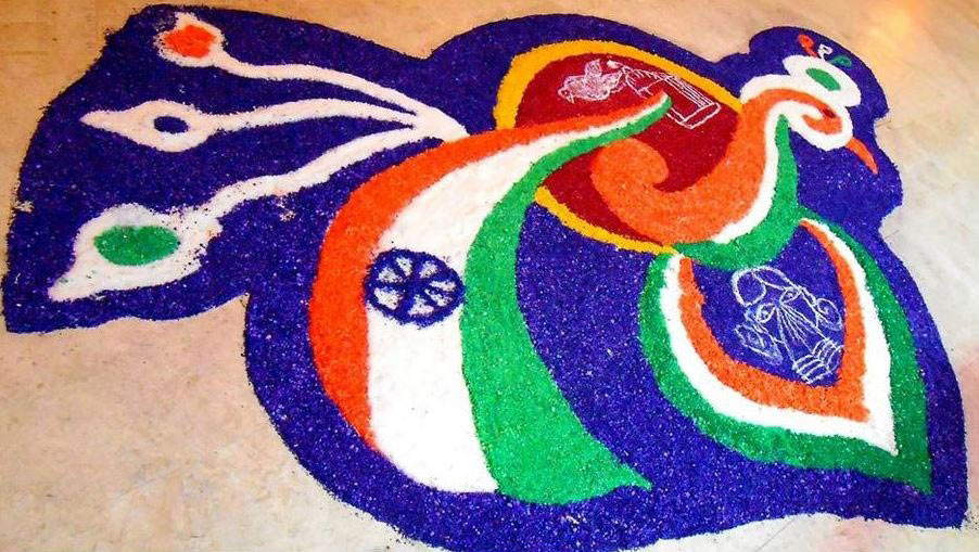 Indian Flag Rangoli