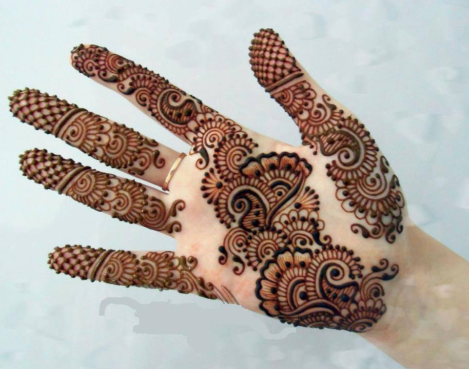 Mehndi Designs Latest Images : Front hand arabic mehndi designs for stylish girls women simple