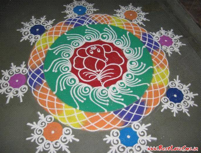Rangoli Designs for Ganesh Chaturthi