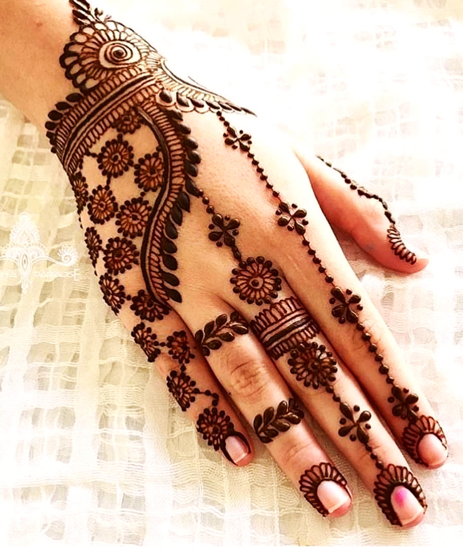 Arabic Bridal Mehndi Designs Photo