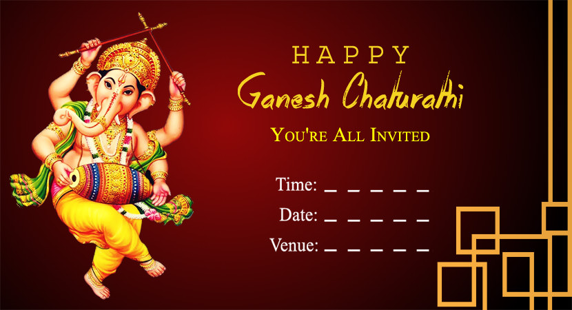 Beautiful Cards for Ganpati Invitation