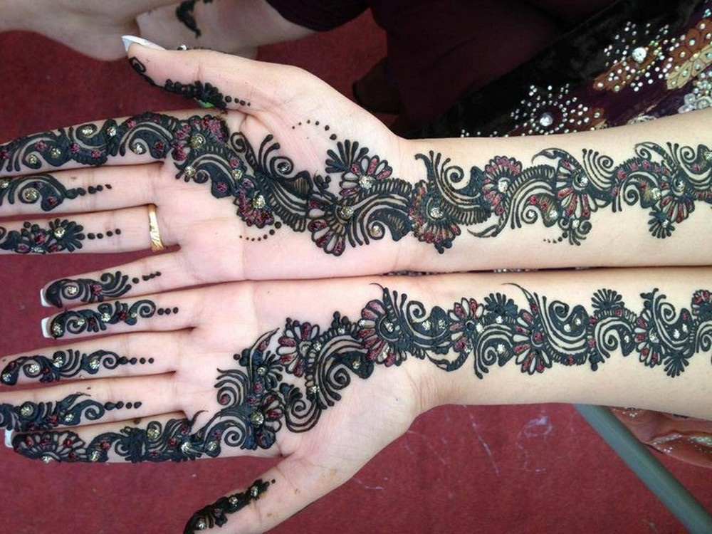 Free Download Beautiful Front Hand Arabic Mehndi Designs