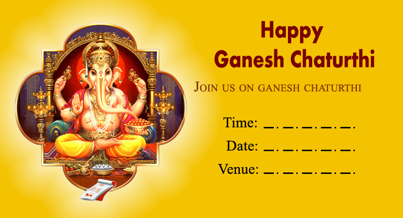 Blank Card for Ganpati Invitation