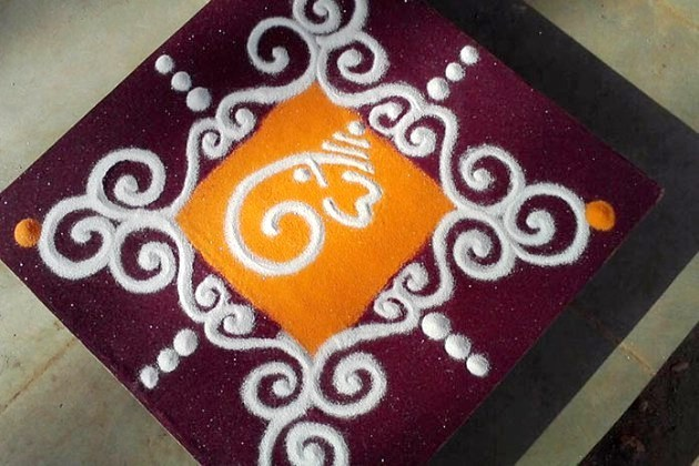 Ganpati Rangoli for Easy to Make