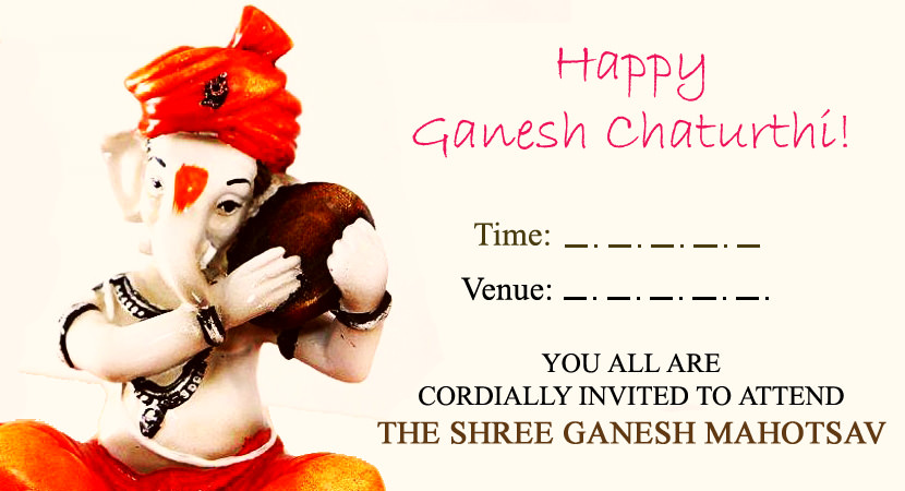 Happy Ganesh Chaturthi Invitation Cards Pictures Images