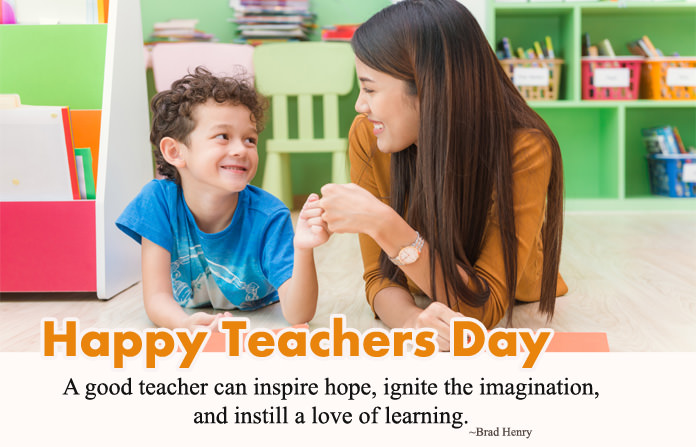 Happy Teachers Day Inspirational Quotes Image