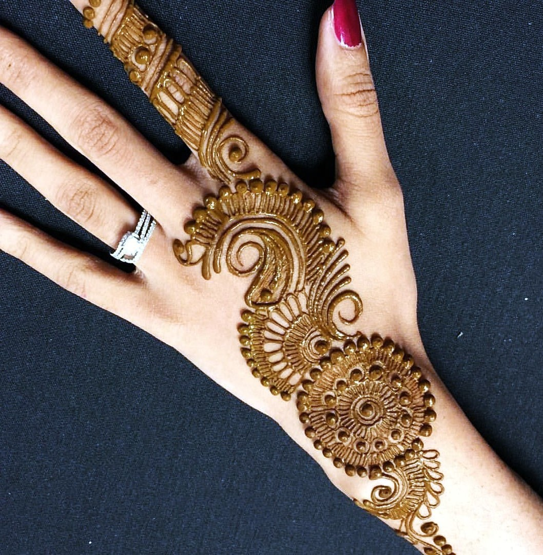 Henna Designs Arabic for Hands with Flowers & Cary Designs