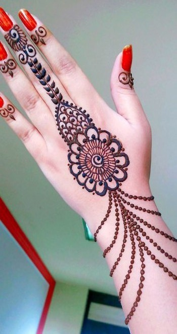 Images of Simple Arabic Mehndi Designs for Hand