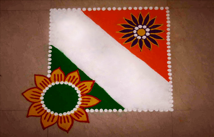Independence Day Rangoli Competition with Kite Theme