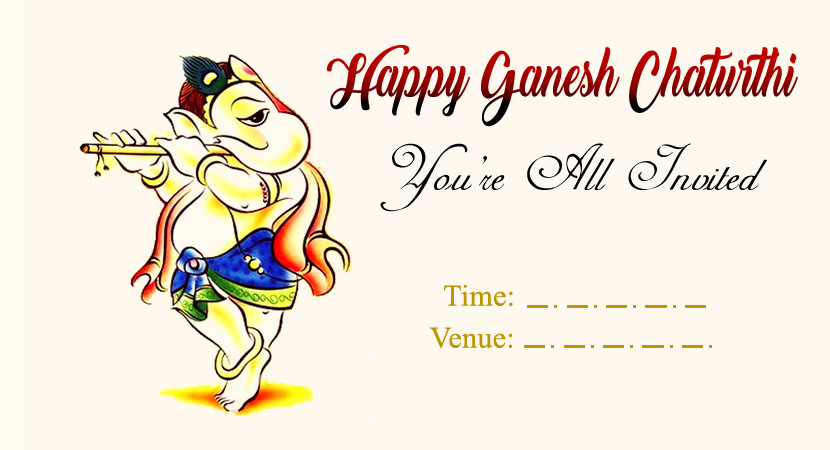Invitation of Ganesh ji Program Card