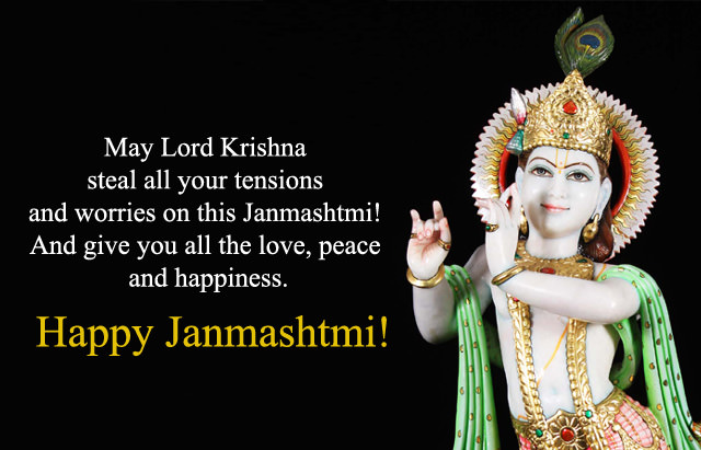 Lord Krishna Image with Wishes Sms