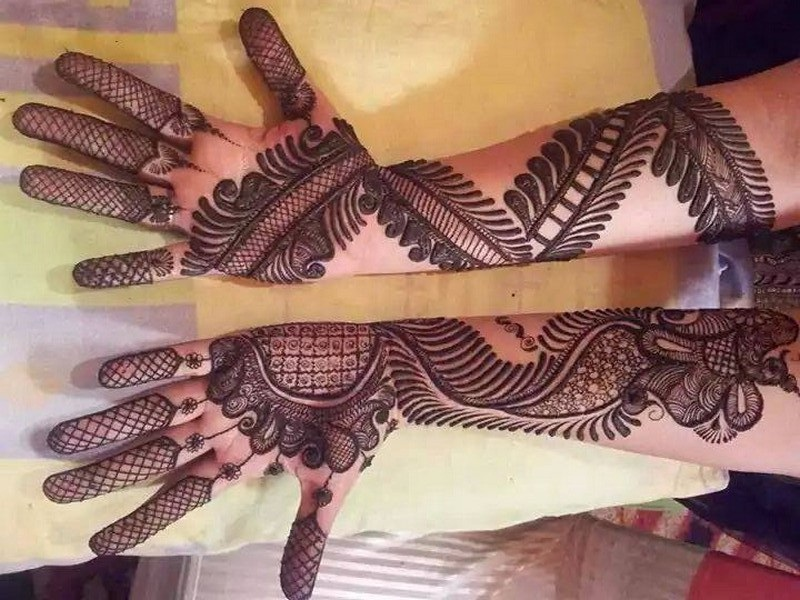 Latest Full Hands Mehndi Designs : Front hand arabic mehndi designs for stylish girls women simple