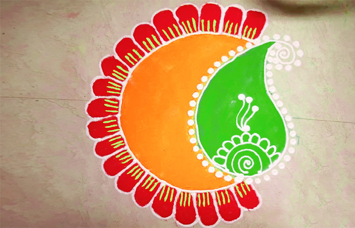 Rangoli Designs for 15th August and 26 January