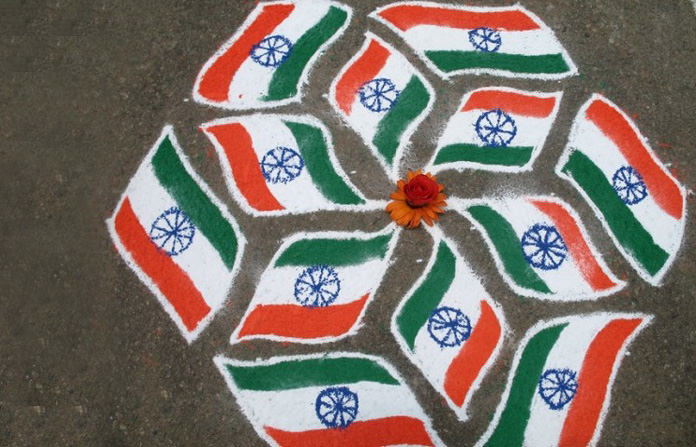 Rangoli Designs for Indian Flag