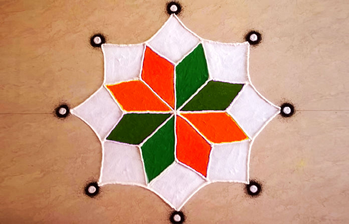 Republic Day and 15 August Rangoli Pic
