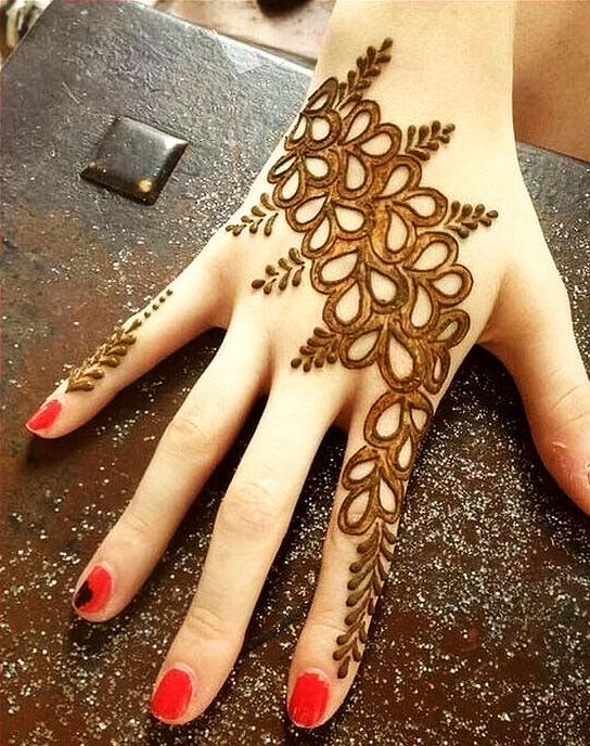 Stylish Arabic Mehndi Designs Wallpaper