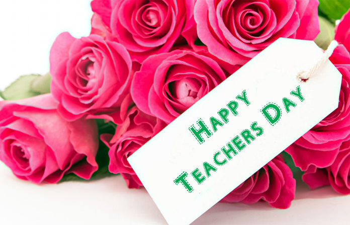 Teachers Day Images with Flowers