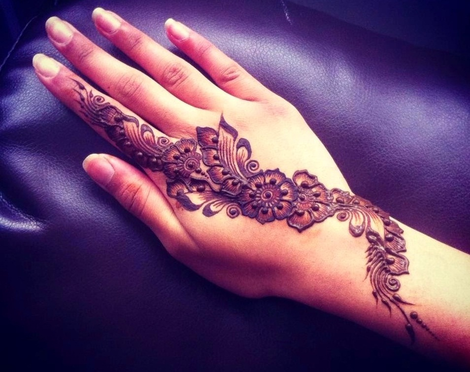 Arabic Mehndi Designs For Hand : Selected beautiful arabic mehndi designs for back hands