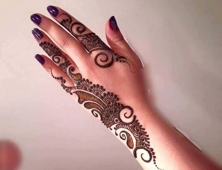 Arabic Mehndi Designs Back Side