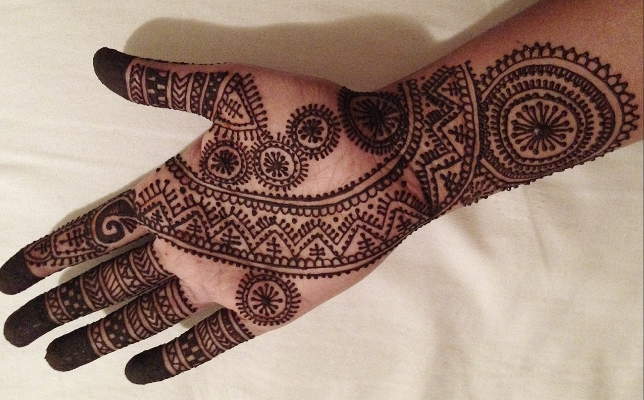 Mehndi For Front Hand Full : Simple full mehendi design front hand makedes