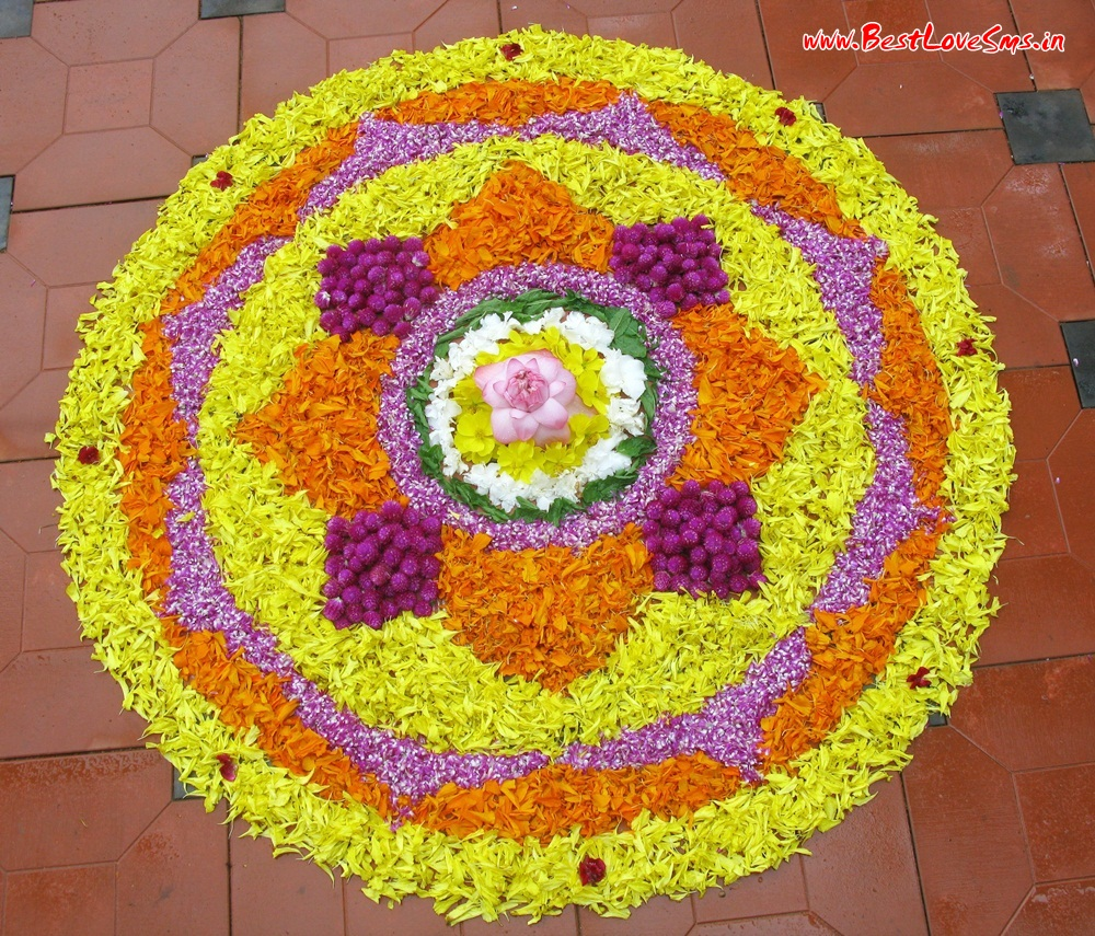 Flower Rangoli Ideas