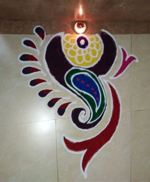 Small Rangoli Of Ganesh