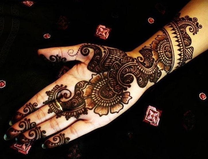 Mehndi Hands Dps : Front hand arabic mehndi designs for stylish girls women simple