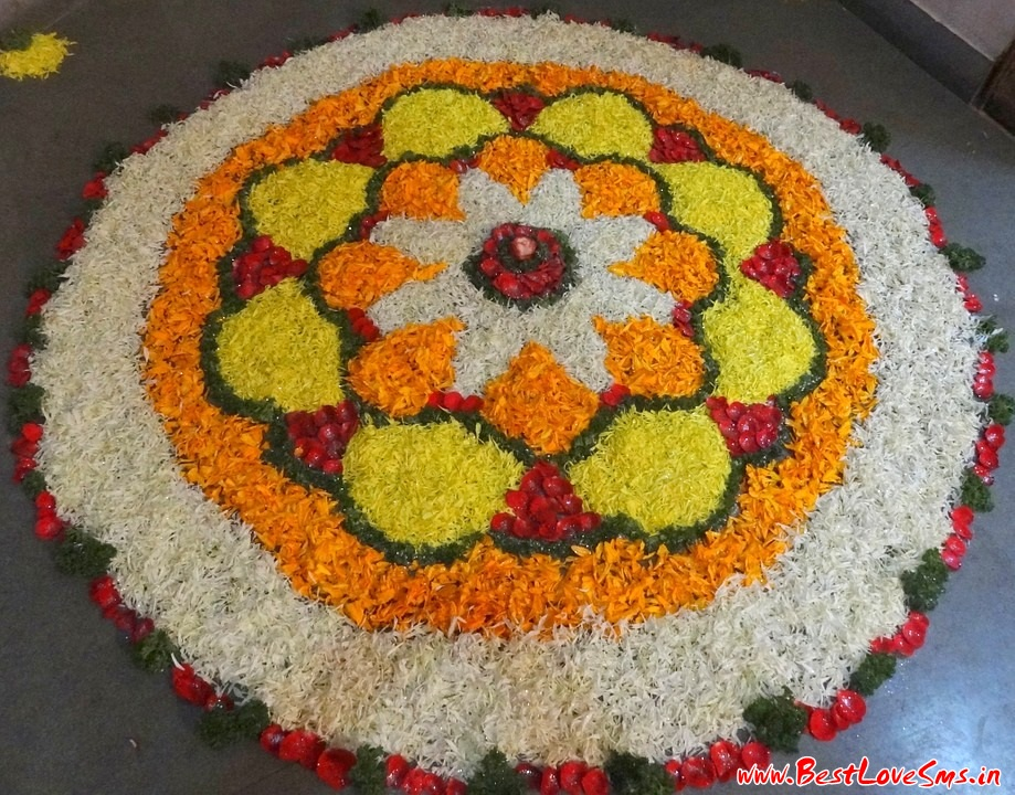 Beautiful Flower Rangoli