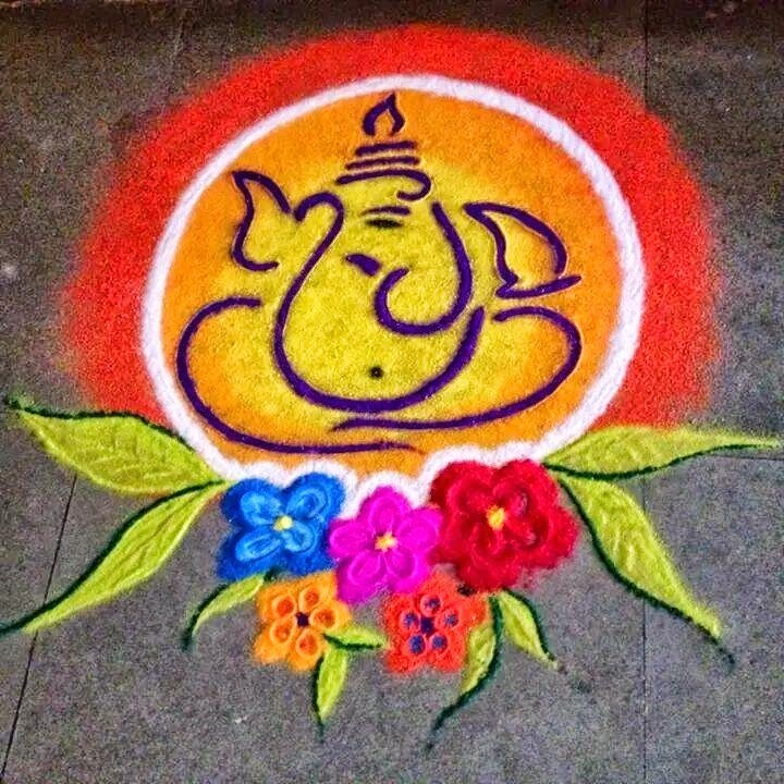 Rangoli Of Ganpati