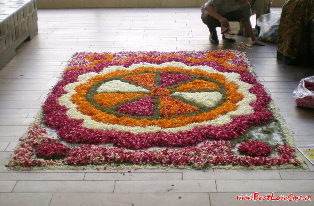 Small Flower Rangoli Design