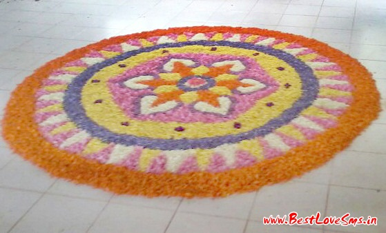 Design Of Flower Rangoli