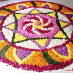 Beautiful Rangoli Designs with Flowers