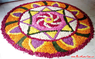 Rangoli Design In Flower