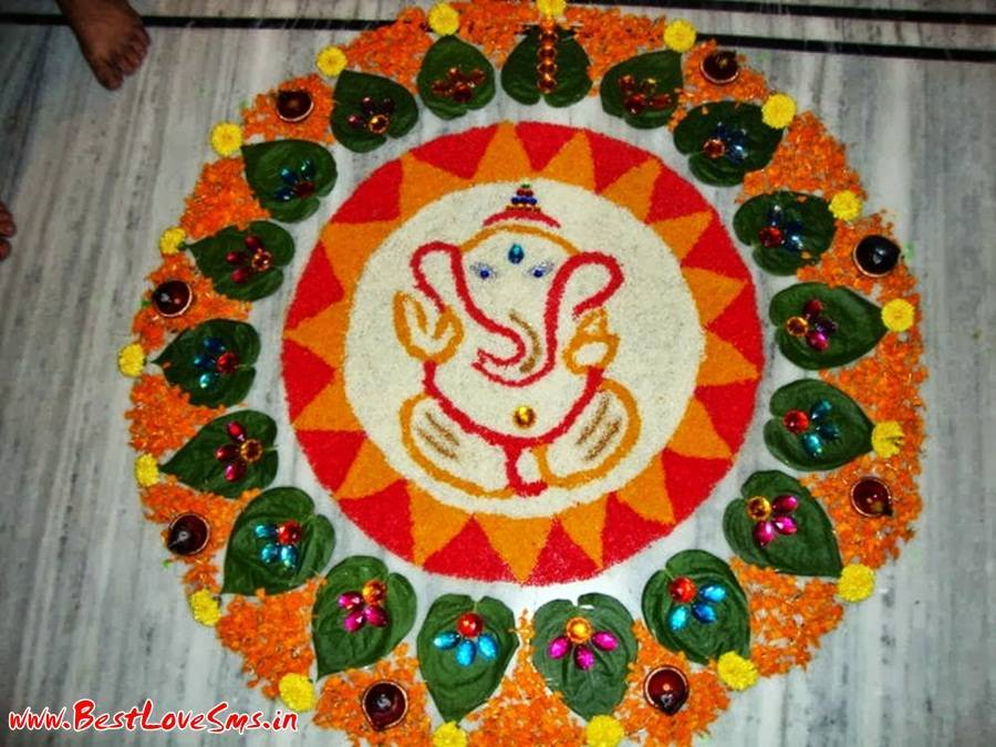 Rangoli Designs Of Lord Ganesha