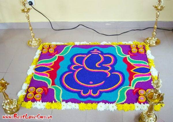 Rangoli Designs For Ganesh Festival