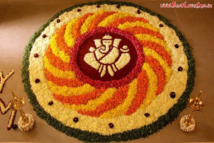 Rangoli Designs Of Ganesha