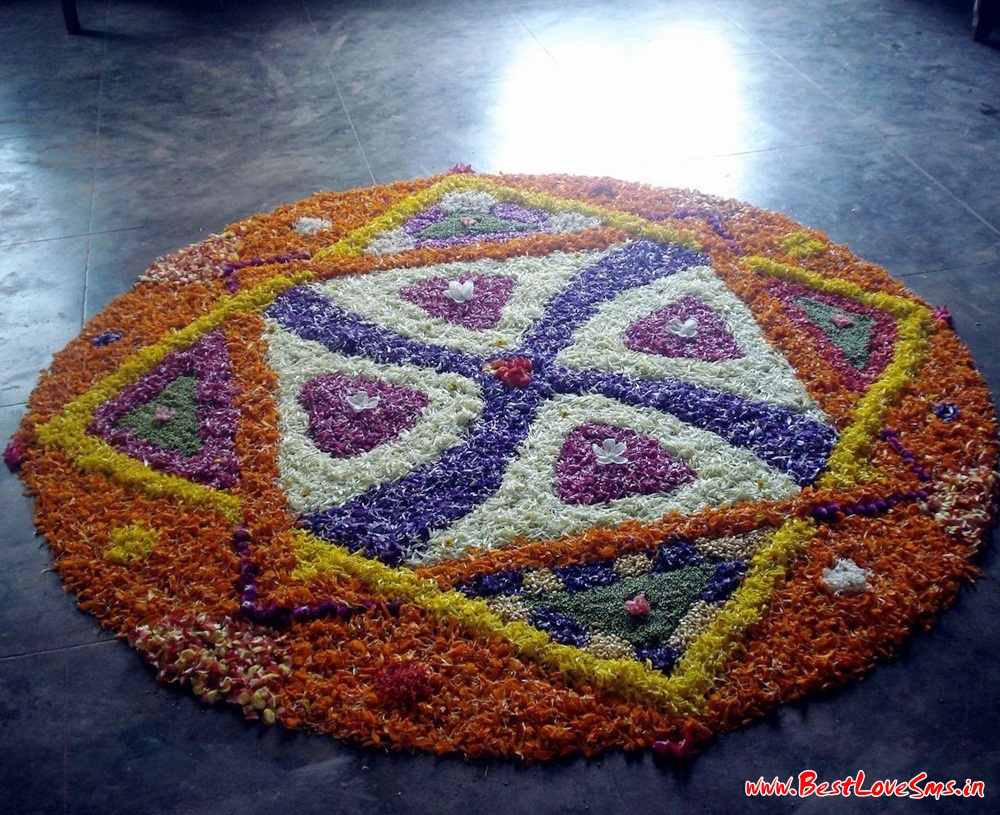Flower Design Rangoli