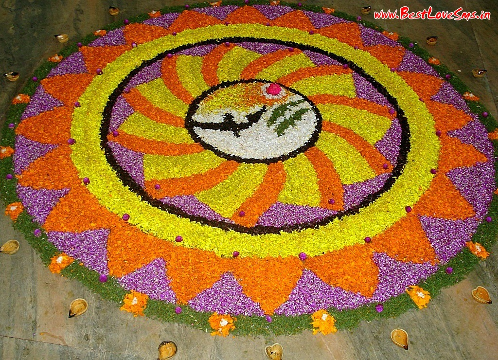 Flower Designs For Rangoli