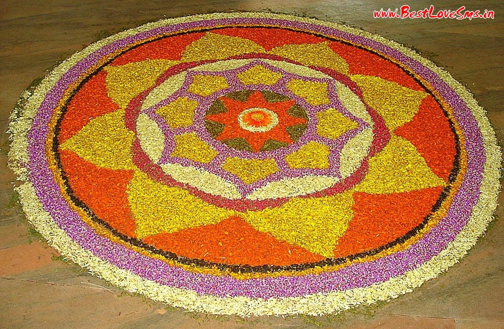 Rangoli Flower Designs Latest