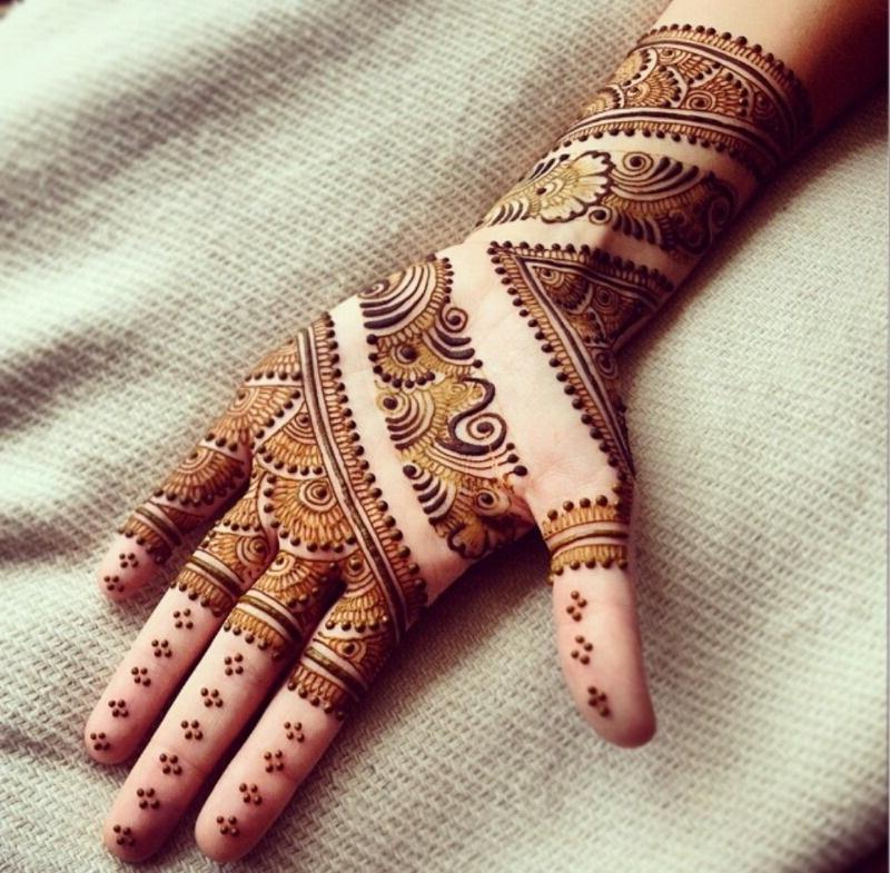Simple Arabic Mehndi Designs for Hands