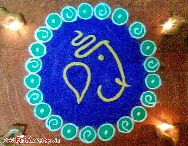 Ganesha Rangoli Patterns