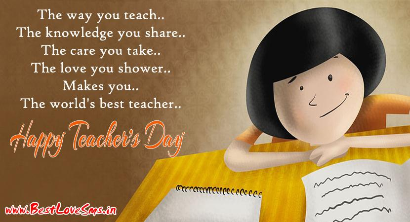 Birthday Wishes For Teacher Quotes ~ Happy teachers day wishes in hindi & english 5th september messages