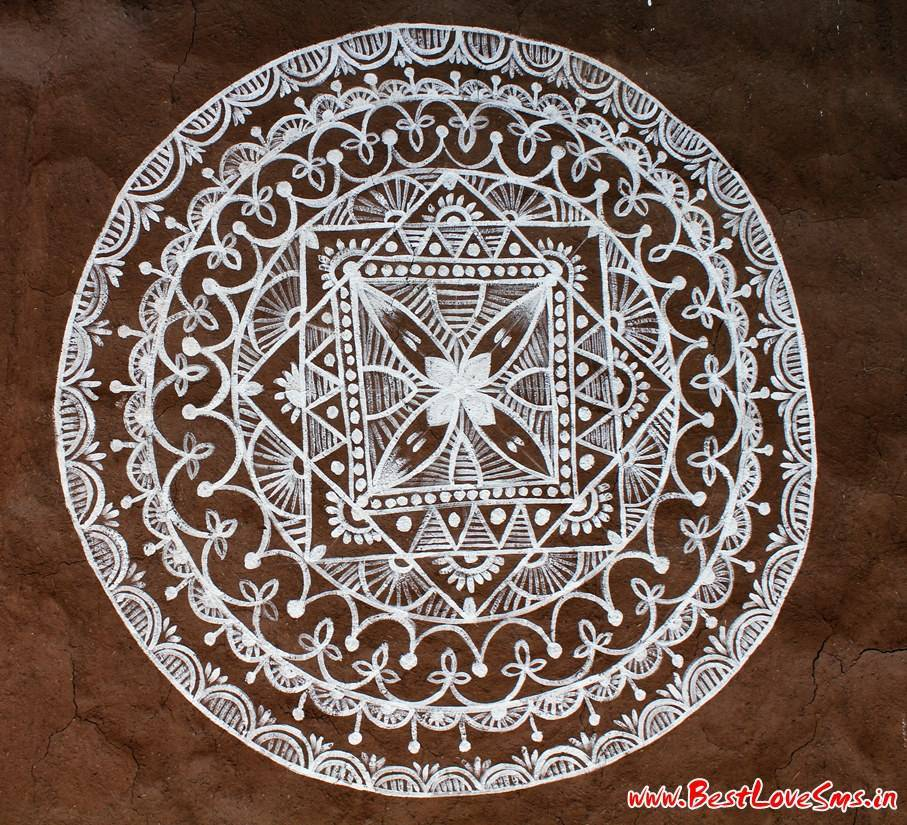 Free Hand Designs For Rangoli