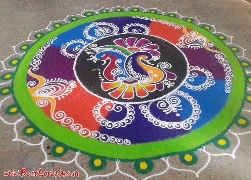 Design Of Rangoli Of Freehand