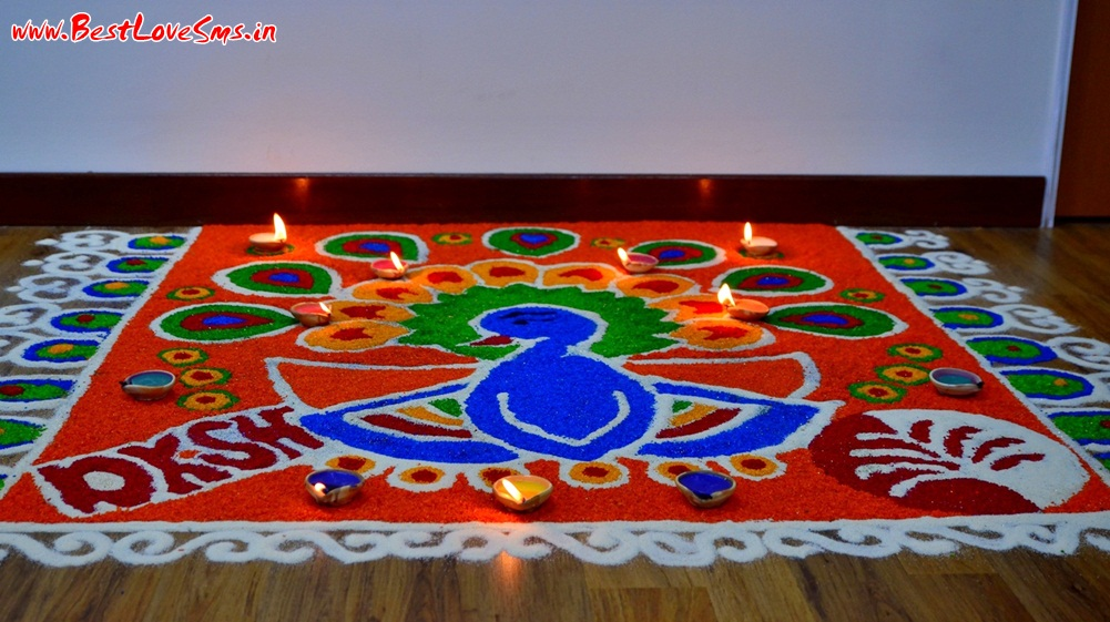 Rangoli Peacock Designs For Diwali