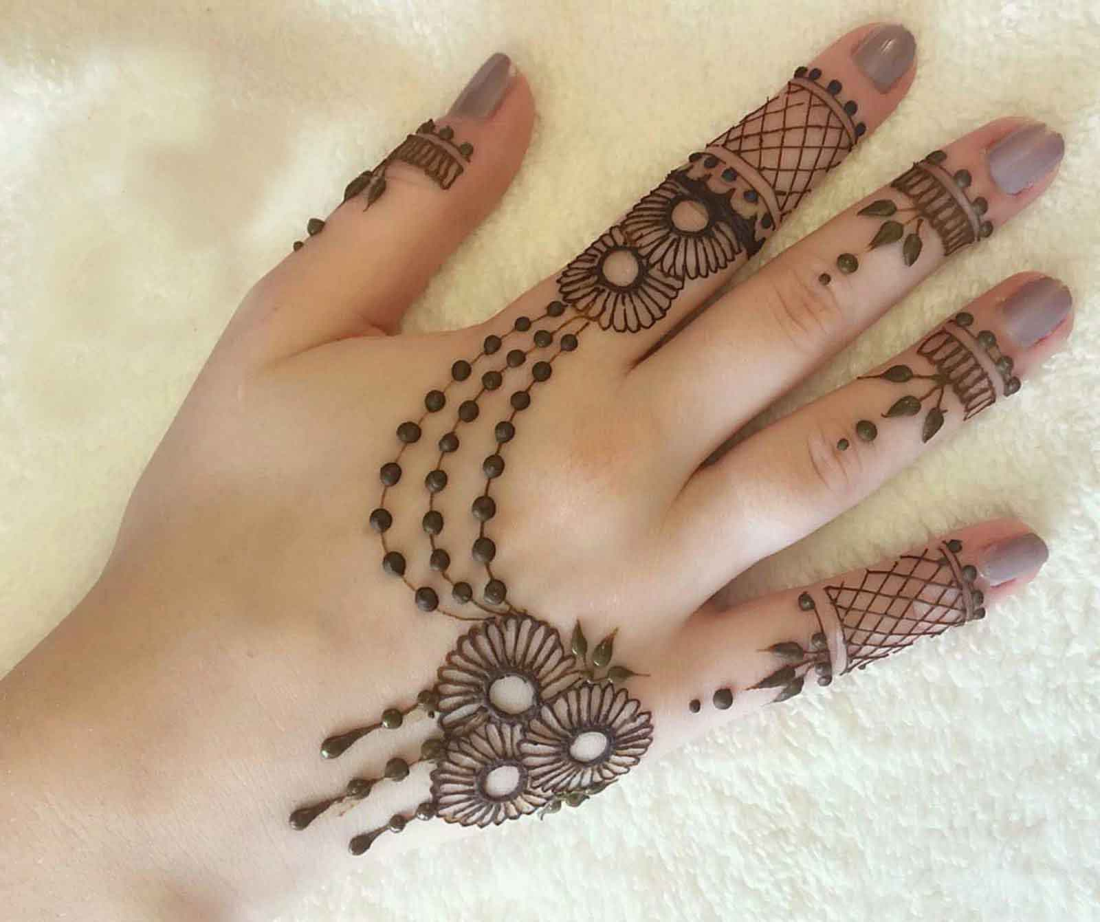 Selected & Beautiful Arabic Mehndi Designs for Back Hands