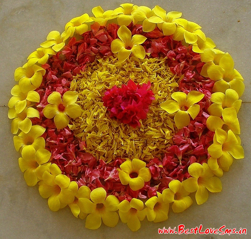 Flower Rangoli For Kids
