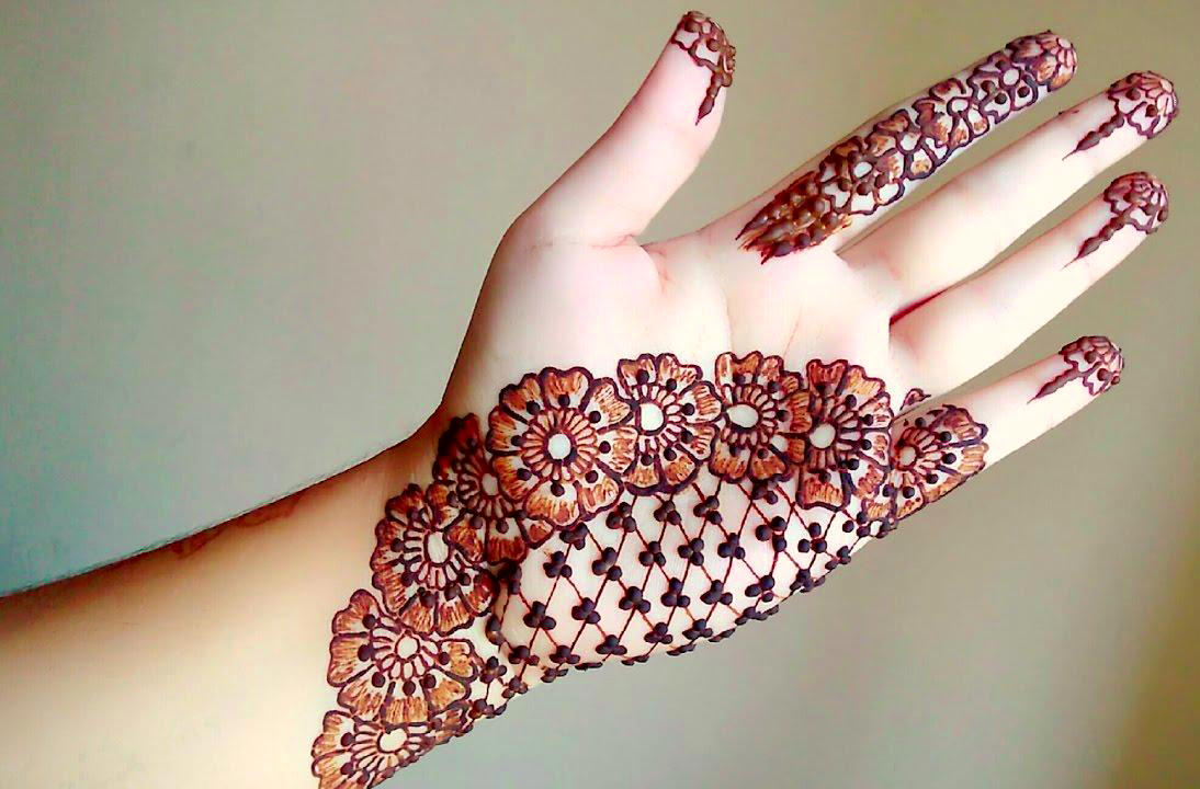 Front Hand Arabic Mehndi Designs for Stylish Girls Women